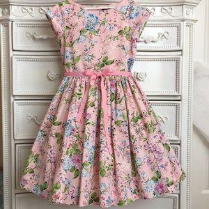 LAST ONE!! LANDS END Floral bouquet dress 10 pink